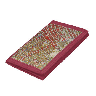WPA map of central Los Angeles Tri-fold Wallet