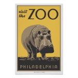 "WPA Poster ""Visit The Zoo"" Philadelphia"