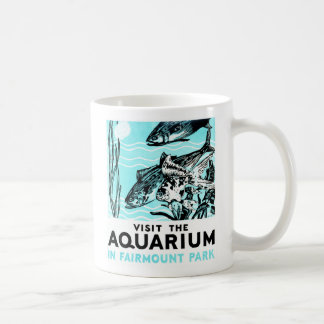 "WPA Posters - ""Visit the Aquarium in Fairmount Par Basic White Mug"