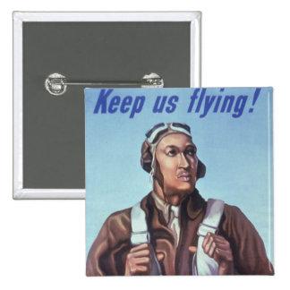 WPA Tuskegee African American Airmen of WW2 15 Cm Square Badge
