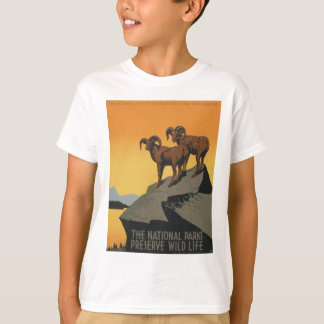 WPA Vintage National Parks Wildlife Travel T-Shirt