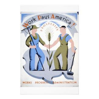 WPA - Work America Flyer