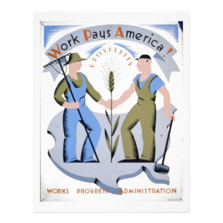 WPA - Work America Full Colour Flyer
