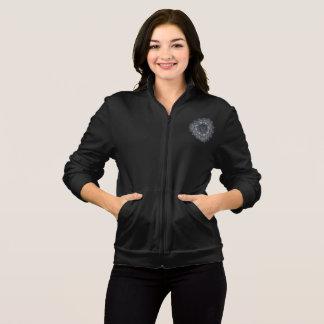 Wpmens Black mandala zip jogger