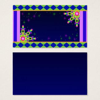 WQ Kaleidoscope Business Card Posh Colorful No 2