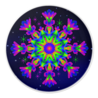 WQ Kaleidoscope Ceramic Knob Purple lovers