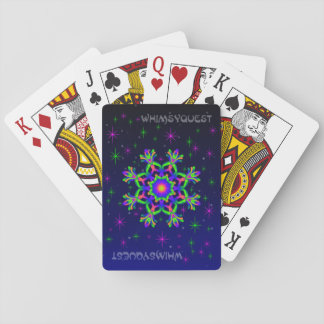 WQ Kaleidoscope  Playing Cards Green & Purple # 1