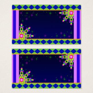 WQ Kaleidoscope Posh Business Card No 1