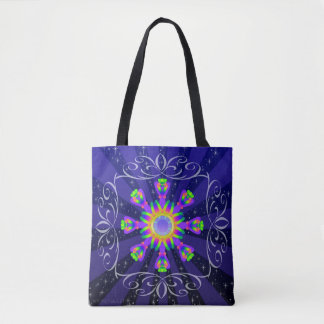 WQ Kaleidoscope Tote Bag Burst Series #1