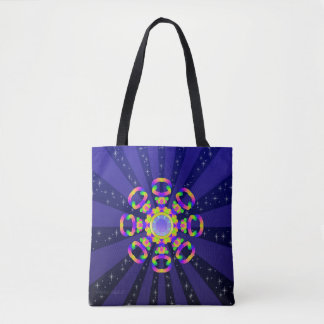 WQ  Kaleidoscope Tote Bag Burst Series No 4