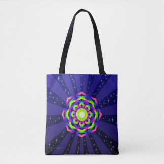 WQ Kaleidoscope Tote Bag Burst Series No. 5