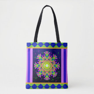 WQ Kaleidoscope Tote Bag Posh Name back  No.7