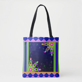 WQ Kaleidoscope Tote Bag Posh Series Name Design