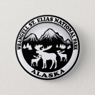 Wrangell St. Elias Nat Park Alaska moose circle 6 Cm Round Badge