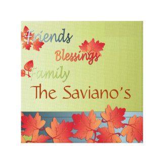 Wrapped  Blessing's Personalized Family tree Gallery Wrap Canvas