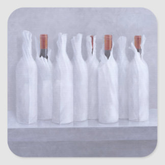Wrapped bottles on grey 2005 square sticker