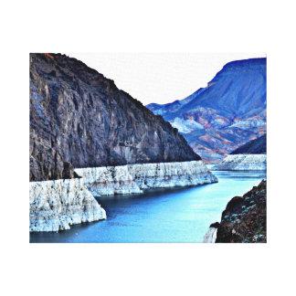 Wrapped Canvas - Colorado River thro' Hoover Dam