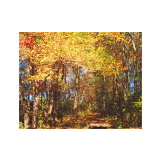 Wrapped Canvas-Delicious Autumn at the Bashakill Canvas Print