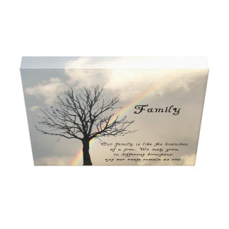 WRAPPED CANVAS-FAMILY QUOTE CANVAS PRINT