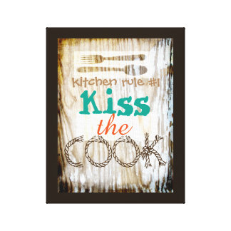 wrapped canvas kitchen wall art cute quote