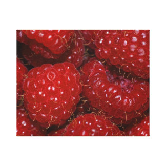 "Wrapped Canvas Photograph-""Rasberries"" Stretched Canvas Prints"