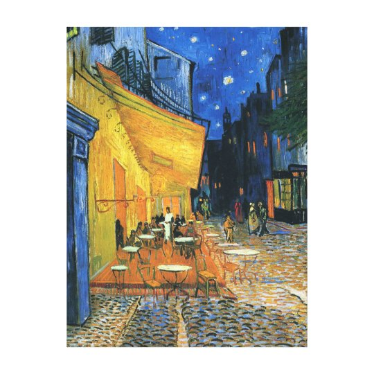 """Wrapped Canvas Print - """"Cafe Terrace at Night"""""""