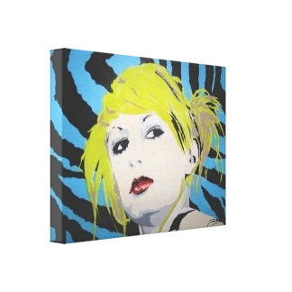 Wrapped Canvas Print of his 'Club Girl' Painting