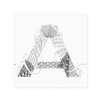 "Wrapped Canvas Print - Zenletter ""A"""