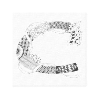 "Wrapped Canvas Print - Zenletter ""C"""