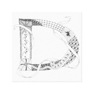 "Wrapped Canvas Print - Zenletter ""D"""