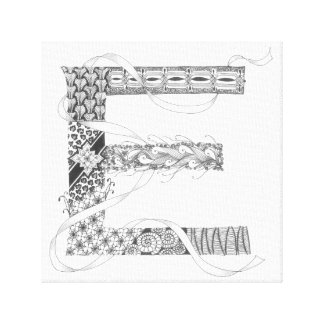 "Wrapped Canvas Print - Zenletter ""E"""