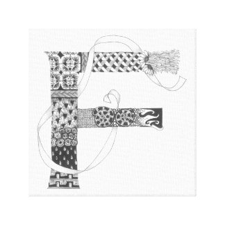 "Wrapped Canvas Print - Zenletter ""F"""