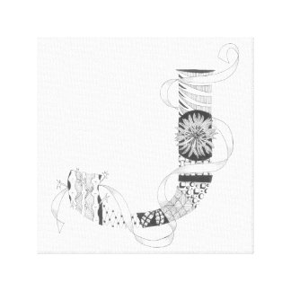 "Wrapped Canvas Print - Zenletter ""J"""