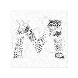 "Wrapped Canvas Print - Zenletter ""M"""