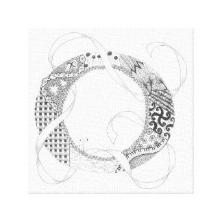 "Wrapped Canvas Print - Zenletter ""O"""