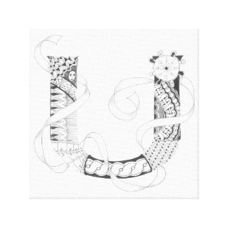 "Wrapped Canvas Print - Zenletter ""U"""