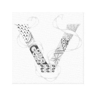 "Wrapped Canvas Print - Zenletter ""V"""