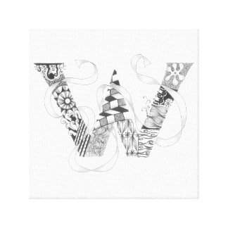 "Wrapped Canvas Print - Zenletter ""W"""