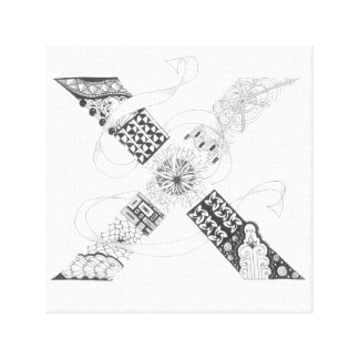 "Wrapped Canvas Print - Zenletter ""X"""