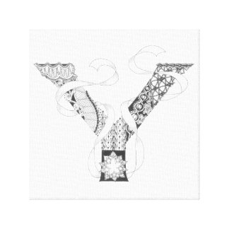 "Wrapped Canvas Print - Zenletter ""Y"""