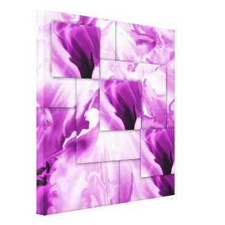 Wrapped Canvas wall art- Purple Abstract design Stretched Canvas Prints