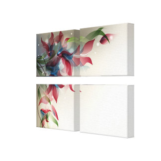 Wrapped canvas with abstract floral design gallery wrap canvas