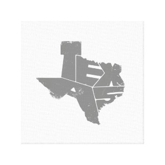 Wrapped Canvas with Gray Texas State Map