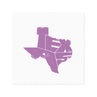 Wrapped Canvas with Purple Texas State Map