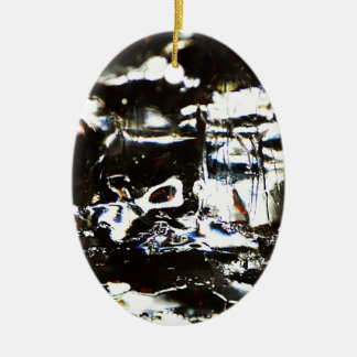 Wrapped crumpled old vintage paper rusty brown art christmas ornament