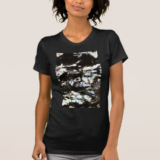Wrapped crumpled old vintage paper rusty brown art tee shirt