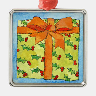 Wrapped gift 2011 christmas ornament