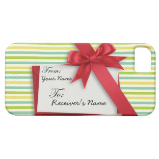 Wrapped Gift with Ribbon and Tag iPhone 5 Covers