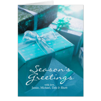 Wrapped gifts greeting card