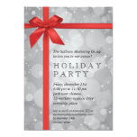 Wrapped Silver Glow Corporate Holiday Party 13 Cm X 18 Cm Invitation Card